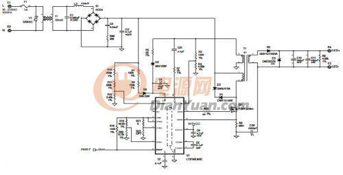 这个电路图是一个给24瓦吸顶灯用的演示板的电路图